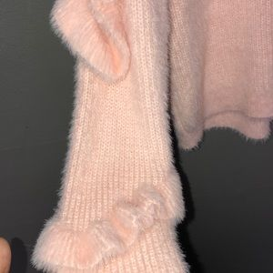 Chelsea & Violet Sweaters - NWT chelsea and violet pink ruffled sweater